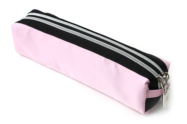 Raymay Double Zipper Color Pencil Case - Pastel Pink - RAYMAY FY276 PL