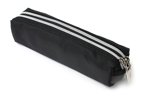Raymay Double Zipper Color Pencil Case - Black - RAYMAY FY276 B