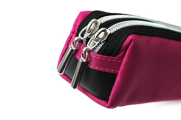 Raymay Double Zipper Color Pencil Case - Pink - RAYMAY FY276 P