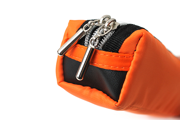 Raymay Double Zipper Color Pencil Case - Orange - RAYMAY FY276 D