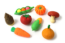 Iwako Vegetables Novelty Eraser - 8 Piece Set - IWAKO ER-BRI023
