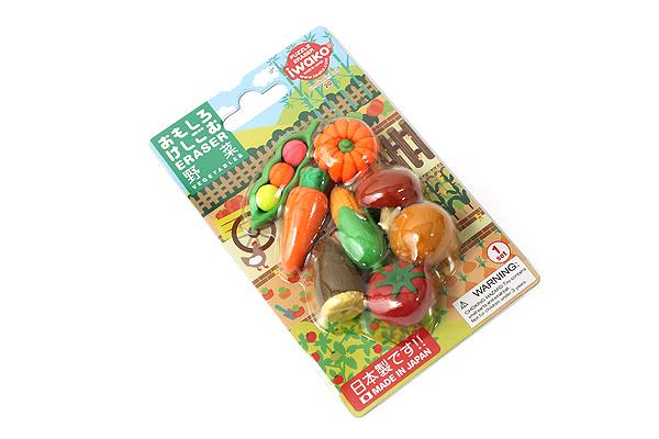 Iwako Vegetables Novelty Eraser - 8 Piece Set - IWAKO ER-BRI023