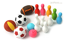 Iwako Sports Novelty Eraser - 16 Piece Set - IWAKO ER-BRI028