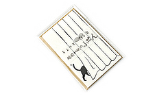 Kuretake Echizen Washi Adhesive Memo Notes - Black Cat Hide and Seek - KURETAKE LH25-3