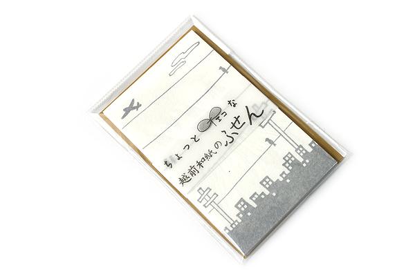 Kuretake Echizen Washi Adhesive Memo Notes - Sky and City - KURETAKE LH25-5