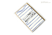 Kuretake Echizen Washi Adhesive Memo Notes - Border Shirt - KURETAKE LH25-6