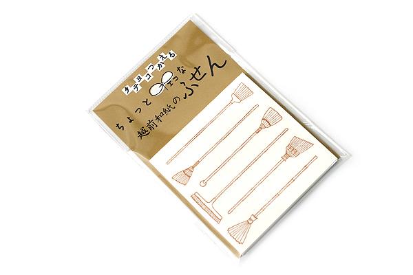 Kuretake Echizen Washi Adhesive Memo Notes - Broom - KURETAKE LH25-101