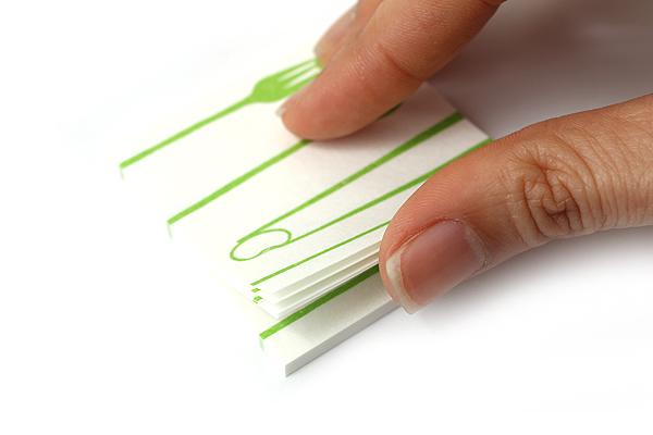 Kuretake Echizen Washi Adhesive Memo Notes - Lunch Time - KURETAKE LH25-103