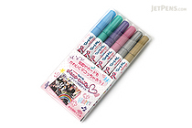 Sakura Deco Cute Metallic Photo Marker - 6 Color Set - SAKURA ZHK-S6M