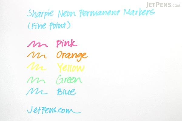 Sharpie Neon Permanent Marker - Fine Point - Blue - SHARPIE 1860448