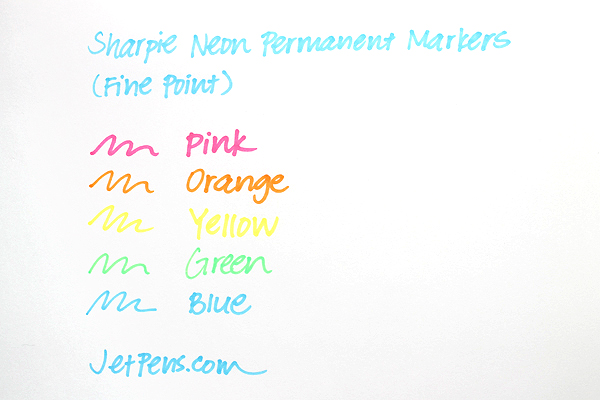 Sharpie Neon Permanent Marker - Fine Point - Orange - SHARPIE 1860446