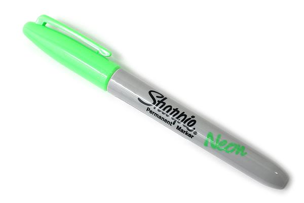 Sharpie Neon Permanent Marker - Fine Point - Green - SHARPIE 1860447