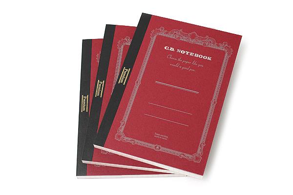 Apica Premium C.D. Notebook - A6 - 5 mm Graph - 96 Sheets - Bundle of 3 - APICA CDS70S BUNDLE