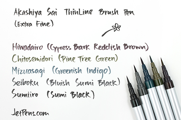 Akashiya Sai ThinLine Brush Pen - Extra Fine - Mizuasagi (Greenish Indigo) - AKASHIYA TL300-03