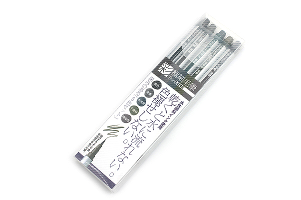 Akashiya Sai ThinLine Brush Pen - Extra Fine - 5 Color Set - AKASHIYA TL300-5VA