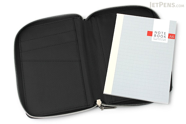 Raymay Nilon Multi-Use Covered Notebook - A6 - Black - RAYMAY CN142 B