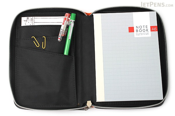 Raymay Nilon Multi-Use Covered Notebook - A6 - Orange - RAYMAY CN142 D