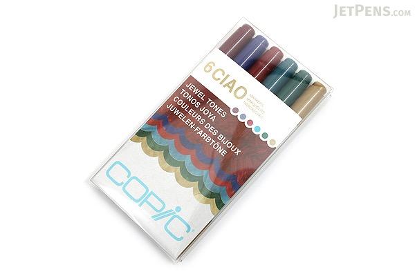 Copic Ciao Marker - 6 Color Set - Jewel Tones - COPIC I6JEWEL
