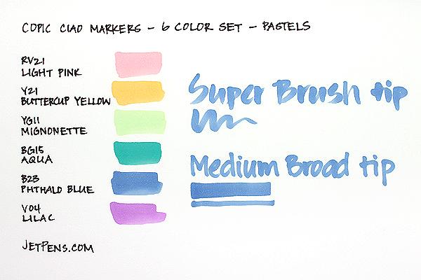 Copic Ciao Marker - 6 Color Set - Pastels - COPIC I6PASTELS