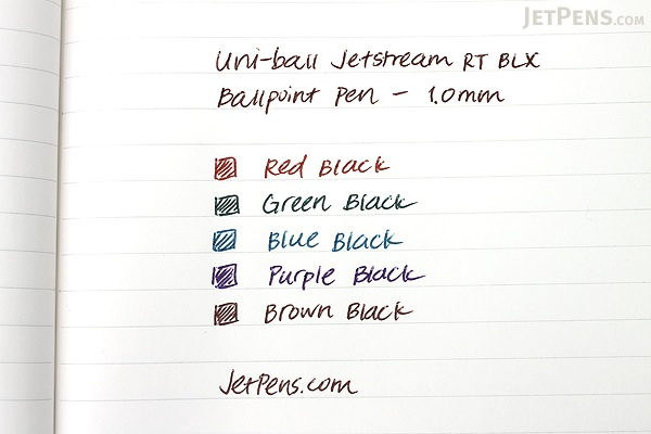 Uni-ball Jetstream RT BLX Ballpoint Pen - 1.0 mm - Brown Black - UNI-BALL 1858846