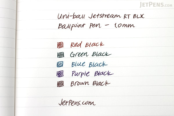 Uni-ball Jetstream RT BLX Ballpoint Pen - 1.0 mm - 3 Color Set - UNI-BALL 1858850