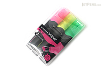 Uni Promark View Highlighter - 3 Color Set - UNI PUS1543C