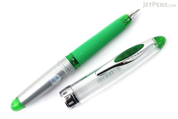 Pilot Vortex Fountain Pen - Fine Nib - Clear Green - PILOT FVS-150R-TGF