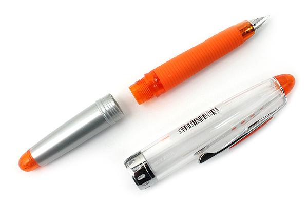 Pilot Vortex Fountain Pen - Fine Nib - Clear Orange - PILOT FVS-150R-TOF