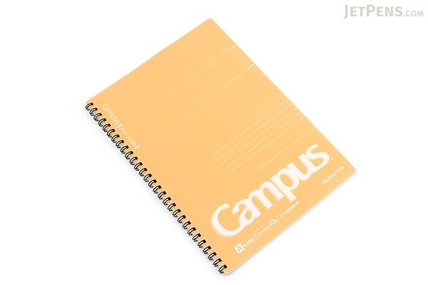 Kokuyo Campus Twin Ring Notebook - Semi B5 - 7 mm Rule - Yellow - KOKUYO SU-T205A-Y