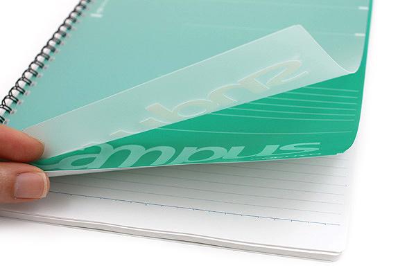 Kokuyo Campus Twin Ring Notebook - Semi B5 - 6 mm Rule - 40 Sheets - Green - Bundle of 5 - KOKUYO SU-T205B-G BUNDLE