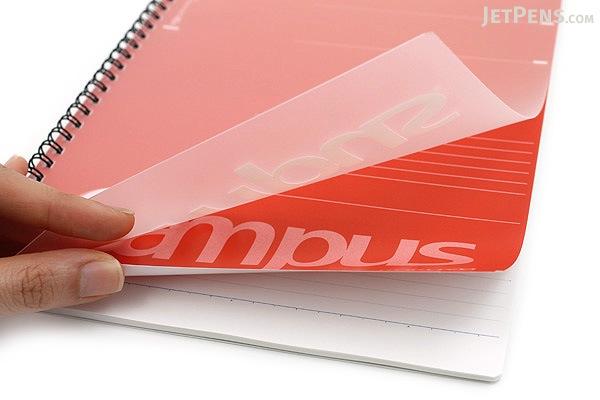 Kokuyo Campus Twin Ring Notebook - Semi B5 - 6 mm Rule - Red - KOKUYO SU-T205B-R