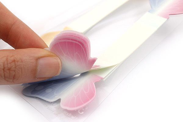 Midori 3D Writing Marker Adhesive Notes - Pink Butterfly - MIDORI 11775-006