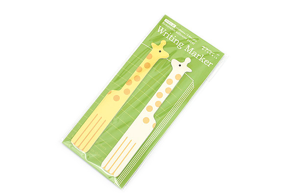 Midori Writing Marker Adhesive Notes - Long - Giraffe - MIDORI 11746-006