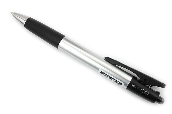 Pilot Opt Ballpoint Pen - 0.7 mm - Metal (Silver) Body - PILOT BOP-20F-MT