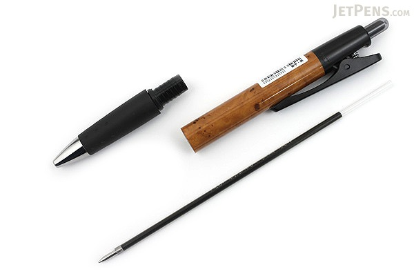 Pilot Opt Ballpoint Pen - 0.7 mm - Wood (Brown) Body - PILOT BOP-20F-WD