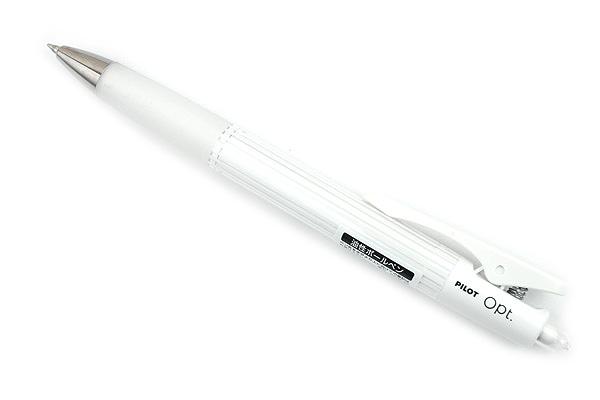 Pilot Opt Ballpoint Pen - 0.7 mm - Stripe (White) Body - PILOT BOP-20F-SP