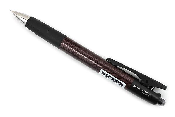 Pilot Opt Ballpoint Pen - 0.7 mm - Herringbone (Brown) Body - PILOT BOP-20F-HB