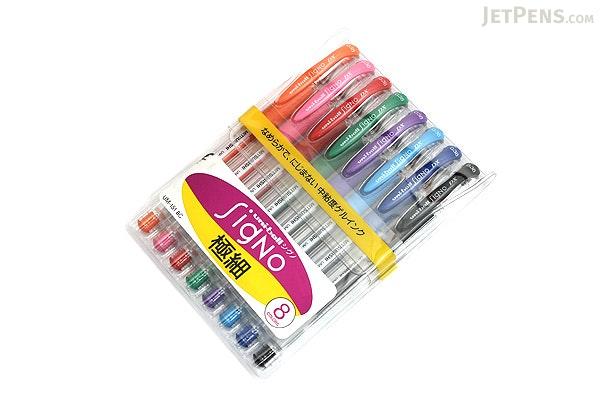 Uni-ball Signo UM-151 Gel Pen - 0.38 mm - 8 Color Set - UNI UM151 8SET