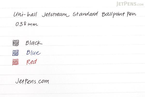 Uni Jetstream Standard Ballpoint Pen - 0.38 mm - Black Ink - Sky Blue Body - UNI SXN15038 .48