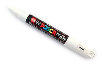 Uni Posca Paint Marker PC-1M - White - Extra Fine Point - UNI PC1M.1