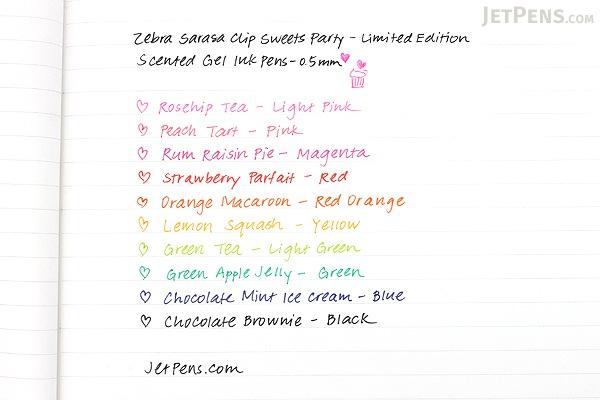 Zebra Limited Edition Sarasa Clip Sweets Party Scented Gel Ink Pen - 0.5 mm - Rum Raisin Pie - Magenta - ZEBRA JJ29-S-MZ