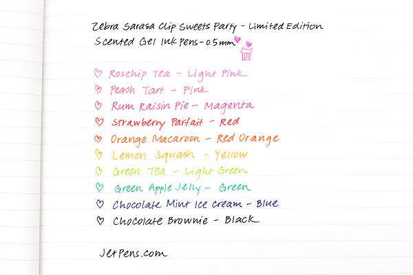Zebra Limited Edition Sarasa Clip Sweets Party Scented Gel Ink Pen - 0.5 mm - Rum Raisin Pie - Magenta - ZEBRA JJ29-S-MZ