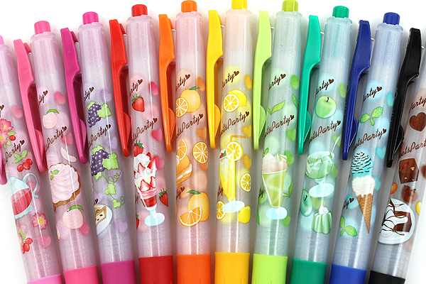 Zebra Limited Edition Sarasa Clip Sweets Party Scented Gel Ink Pen - 0.5 mm - Lemon Squash - Yellow - ZEBRA JJ29-S-Y