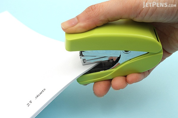 Kokuyo Power Racchikisu Stapler - Yellow Green - KOKUYO SL-MF55YG