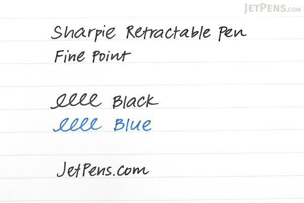 Sharpie Retractable Pen - Fine Point - Black - Pack of 2 - SHARPIE 1753174