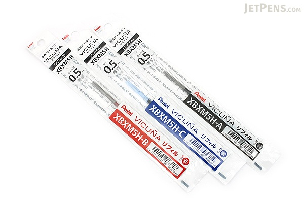 Pentel Vicuna Ballpoint Pen Refill - 0.5 mm - Black - PENTEL XBXM5H-A
