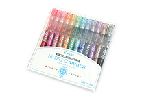 Pilot Hi-Tec-C Maica Gel Pen - 0.3 mm - 12 Color Set - PILOT LHM-180C3-12C