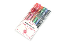 Pilot Hi-Tec-C Maica Gel Pen - 0.4 mm - 6 Color Set - PILOT LHM-90C4-6C