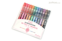 Pilot Hi-Tec-C Maica Gel Pen - 0.4 mm - 12 Color Set - PILOT LHM-180C4-12C
