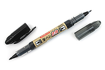 Pilot Futayaku Double-Sided Brush Pen - Fine / Medium - Black Ink - PILOT SVW-20KSN-B